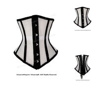 14 Full Steel Boned Heavy Lacing MESH Underbust Shaper Corset #8498(MESH)