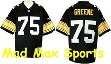 Mean JOE GREENE Pittsburgh Steelers NFL PREMIER Black THROWBACK Jersey Size M-L