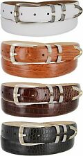 "Menlo - Mens Genuine Leather Italian Calfskin Dress Belt, 1-1/8"" Wide"