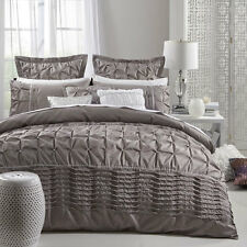 Platinum Logan and Mason FRANCESCA TAUPE Duvet Doona Quilt Cover Set 3 Sizes