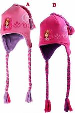 New girls licensed Princess Sofia the First knitted peruvian winter hat fleeced