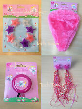 PINK GIRLS FAIRY WISHES BIKE ACCESSORIES BELL SEAT COVER STREAMER REFLECTORS