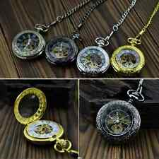 Skeleton Steampunk Mens Hand-winding Mechanical Vintage Pendant Pocket Watch New