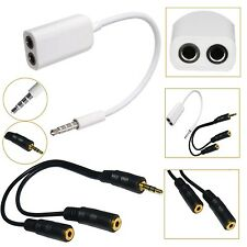 3.5mm STEREO JACK CABLE HEADPHONE AUX SPLITTER ADAPTER FOR 2014/2015 SMARTPHONES