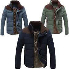 "Mens Jacket Warm Winter Boys Casual Padded Coat Fit Military Overcoat 34""-44"""