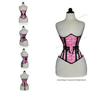 16 Full Steel Boned Heavy Lacing Satin Underbust Shaper Corset #8050B-SA