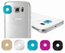 5 color Back Rear Camera Glass Metal Lens Protector Case For Samsung Galaxy S6