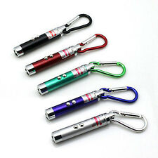 New Mini 2in1 LED Flash Light & Red Laser Pointer Combo Pen Torch with Keychain