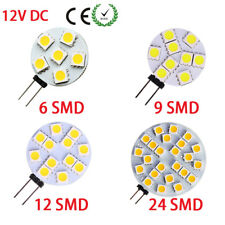 G4 5050 SMD 6/9/12/24 LED Car Boat Light Round Bulb Lamp DC 12V Pure/Warm White