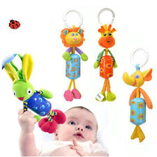 Hot Sale Baby Toy Soft Plush Doll Baby Rattle Ring Bell Crib Bed Hanging Teether
