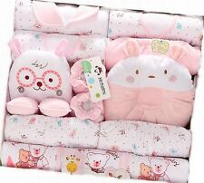 19pcs/Lot Pink Cotton Newborn winter baby clothing toddler girl clothe gift bag