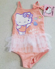Genuine Adorable Hello Kitty Pink Girls Swimmers / Swim Suit / Bathers - NWT