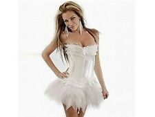 Halloween Burlesque Corset & TuTu Fancy Dress outfit - White