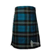 MENS SCOTTISH TARTAN DELUXE  8YD FULL KILT - RAMSAY BLUE - RANGE OF SIZES!