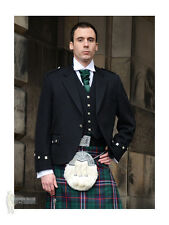 ARGYLE (ARGYLL) SCOTTISH KILT JACKET - BLACK - 100% WOOL - CHEST 40""
