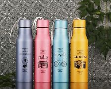 500ML Stainless Steel Kettle Water Bottle For Outdoor Sports Cycling Camping