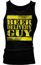 Beer Delivery Guy Drinking Funny Party Humor Shenanigans Boy Beater Tank Top