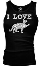 I Love Cat Kitten Sexual Funny Flirty Humor Cunnilingus Boy Beater Tank Top