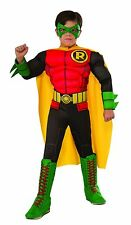 ROBIN Deluxe Boys Costume w/ Muscle Chest Kids Youth Childrens Batman DC Comics