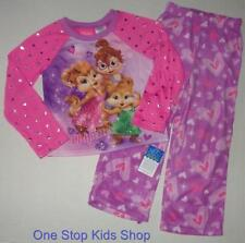 ALVIN AND THE CHIPMUNKS 4 5 6 6X 7 8 10 12 Pjs Set PAJAMAS Shirt Pants CHIPETTES