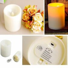 LED Flameless Tealights Battery Operated Tea Light Led Candles W/Timer For Party