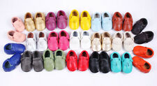 Bold Leather Moccasins Baby Toddler Girl Infant Boy Sole Shoes Picked Loafers