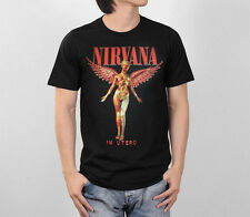 NIRVANA IN UTERO ALBUM GRAPHIC GRUNGE ROCK BAND VINTAGE CONCERT TOUR MEN T-SHIRT