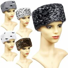 LADIES WARM FURRY FAUX FUR HAT COSSACK FASHION WOMENS RUSSIAN ANIMAL WINTER CAP