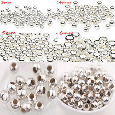 New Wholesale Shiny Silver Metal Round Spacer Tube Bead Charm Finding 5/6/8mm