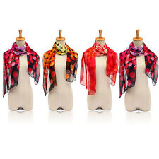 New Fashion Dot Girl Woman Long Soft Wrap Lady Shawl Silk Chiffon Scarf Warm