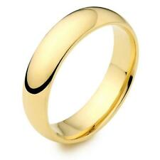 5mm MENS OR WOMENS 18KT GOLD PLATED & STAINLESS STEEL LASTS WEDDING BAND RING DJ