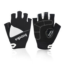 White Mens Womens Summer Thin Half Finger Sports Cycling Bike Bicycle Gloves