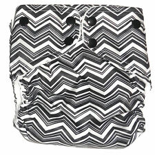 Cloth diaper Pocket  with 1 pc Insert- Black Chevon Pattern