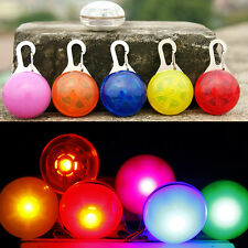 New Chic Pet Cat dogs Puppy LED Flashing Dog Collar Safety Night Light Pendant