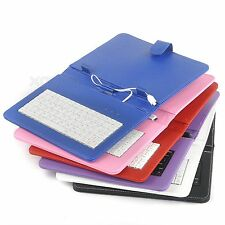"8"" 9'' Inch PU Leather Case Cover Micro USB Keyboard Stand for Android Tablet PC"