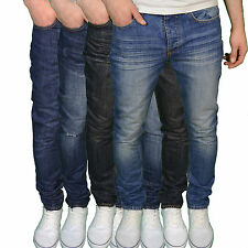 D-Struct Mens Designer Branded Tapered Fit Jeans - Available in 4 Colours BNWT