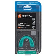 Shock Doctor Ultra STC Convertible Tether Lightweight Mouthguard (Aqua) (Adult)