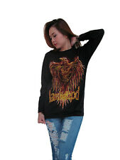 Lamb of God Flaming Eagle Metal Rock Band Womens Long Sleeve T-Shirt Black S,M,L