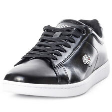Lacoste Carnaby Evo PRV Womens Leather Black Black  Trainers
