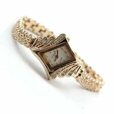 Fashion Women's Crystal Bracelet Stainless Steel Analog Quartz Wrist Watch