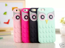 Kate Spade 3D OWL Silicone Shockproof Soft Case Cover For iPhone SE/5/6/S/Plus