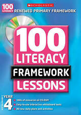 100 New Literacy Framework Lessons for Year 4 wi, Jillian Powell; Fiona Tomlinso