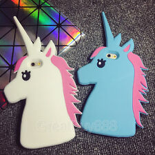 3D Cute Unicorn Cartoon Rubber Silicone Soft Case Cover for iPhone 5S 6 6S 6Plus