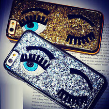 Funny Bling Electroplate Glitter Eye Back Case Cover For iPhone 5 5s 6 6s Plus