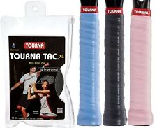 Tourna Mega Tac XL - Black - Overgrips - Tennis Squash Badminton - Free UK P&P