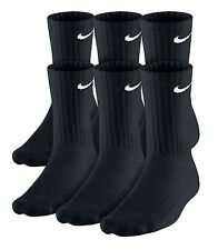 Nike Performance Cotton Crew Socks 6 Pair Black or White Size L