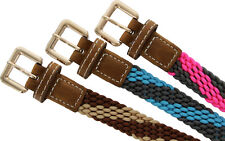 Skinny Woven Braided Fabric Comfort Stretch Casual Belt Size SMALL, MANY COLORS!