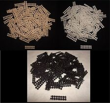 Hair Bow No-Slip Grips  Lots of 100 Strips BLACK WHITE BROWN for Alligator Clips