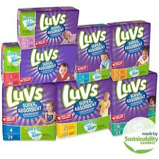Luvs Super Absorbent Leakguards Diapers. Size 1/2/3/4/5/6/Newborn. FREE SHIPPING