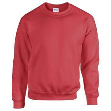 Gildan Heavy Blend Adult Crew Neck Sweatshirt Cotton Set In Sleeves Sweats UK